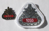 Picture of the pin and patch for 1,050 Events