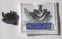 Picture of the pin and patch for 11,000 Kilometers