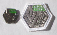 Picture of the pin and patch for 1,150 Events