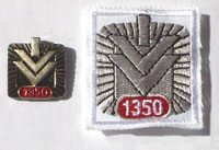 Picture of the pin and patch for 1,350 Events