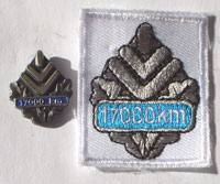 Picture of the pin and patch for 17,000 Kilometers