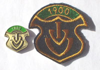Picture of the pin and patch for 1900 Events