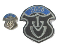 Picture of the pin and patch for 2000 Events