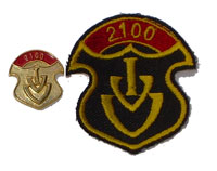 Picture of the pin and patch for 2,100 Events