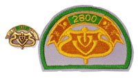 Picture of the pin and patch for 2800 Events
