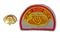 Picture of the pin and patch for 3000 Events