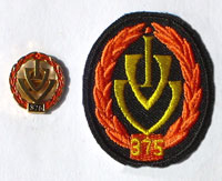 Picture of the pin and patch for 375 Events