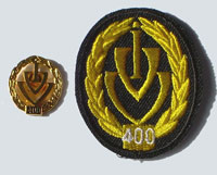 Picture of the pin and patch for 400 Events