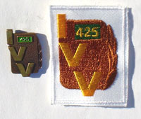 Picture of the pin and patch for 425 Events