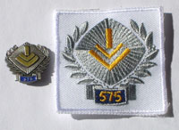 Picture of the pin and patch for 575 Events