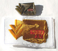 Picture of the pin and patch for 7,000 Kilometers