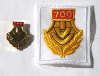Picture of the pin and patch for 700 Events