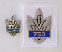 Picture of the pin and patch for 750 Events