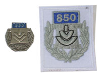 Picture of the pin and patch for 850 Events