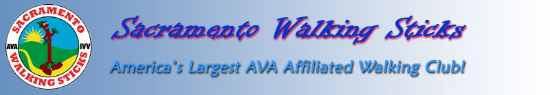 Sacramento Walking Sticks Logo and header.